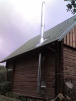 medinio namo kaminas
